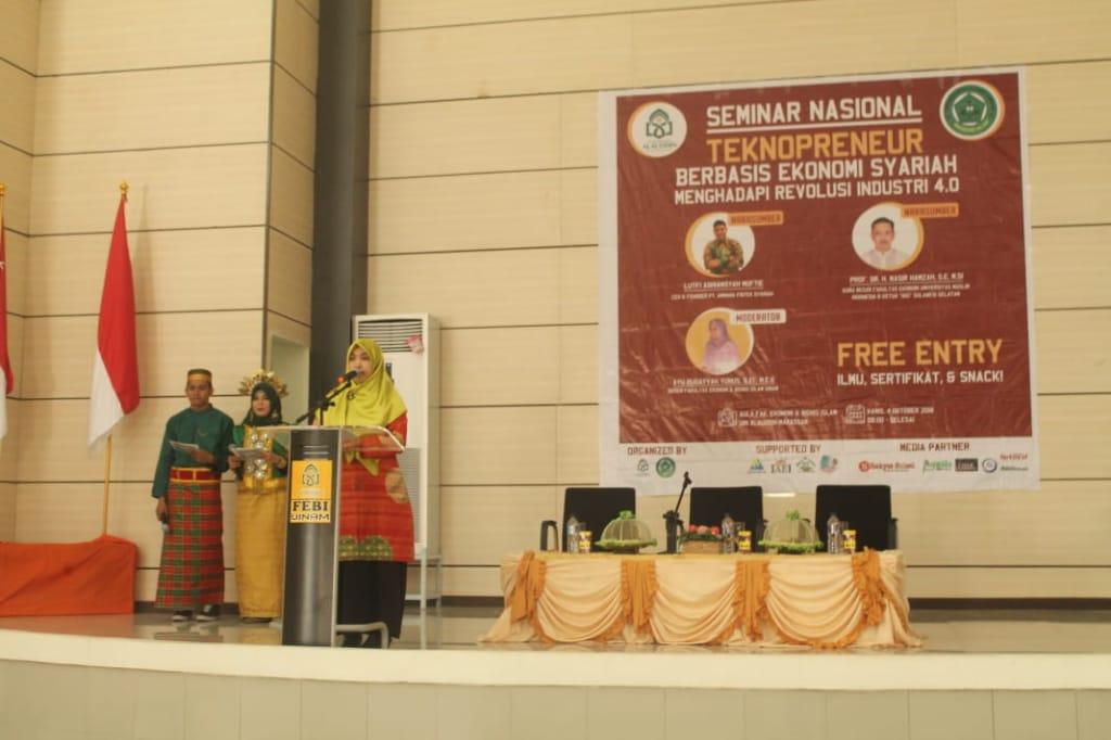 Seminar Nasional Tekhnopreneur Berbasis Ekonomi Syariah Menghadapi Revolusi Industri 4.0